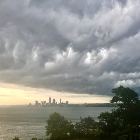 Storm clouds over Lake Erie